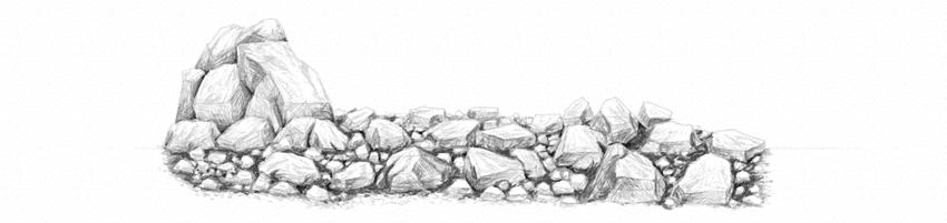 Drawn rock pencil drawing Softest pencil rocks shade Grass