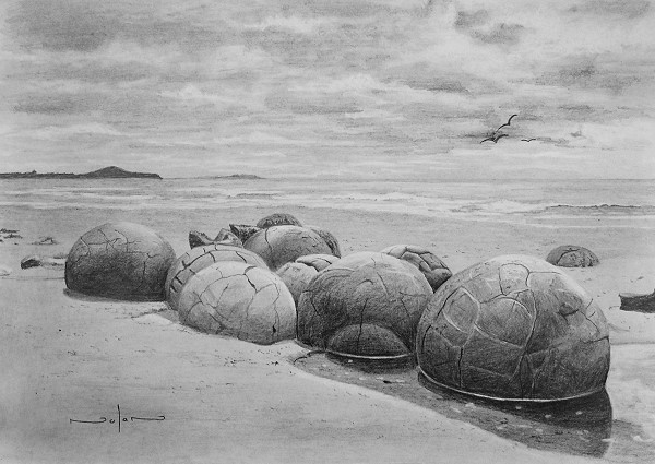 Drawn rock pencil drawing Drawing the Beach Rocks Draw