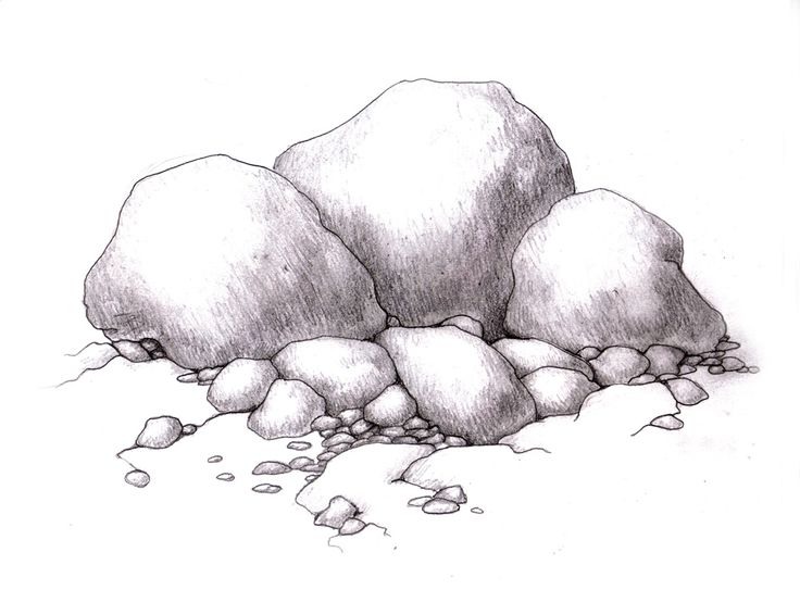Drawn rock realistic Realistic more and 52 Plants