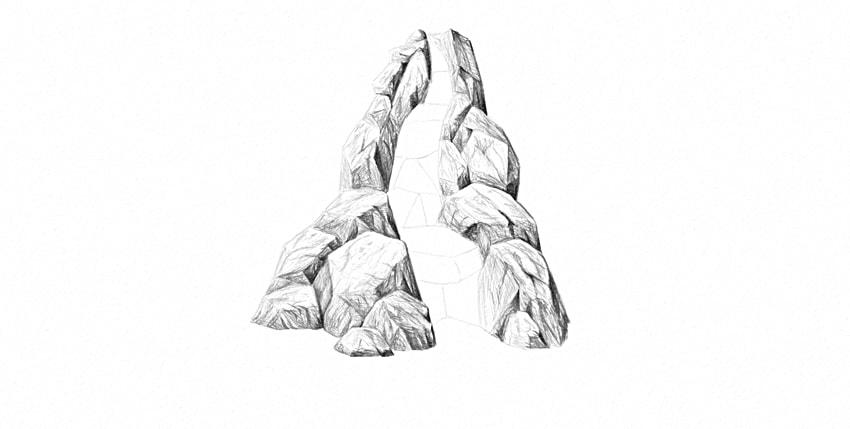 Drawn rock realistic Nature How rocks to Draw