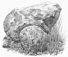 Drawn rock realistic Easy with Download A Pencil
