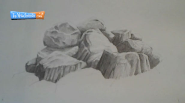Drawn rock realistic With Step Rocks Rocks graphite