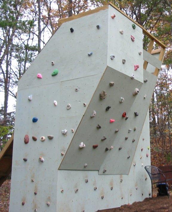 Drawn rock rock wall Climbing Wall Ben's Climbing Backyard