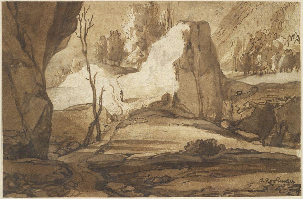 Drawn rock rocky landscape The Museums' Landscape Rocky Art