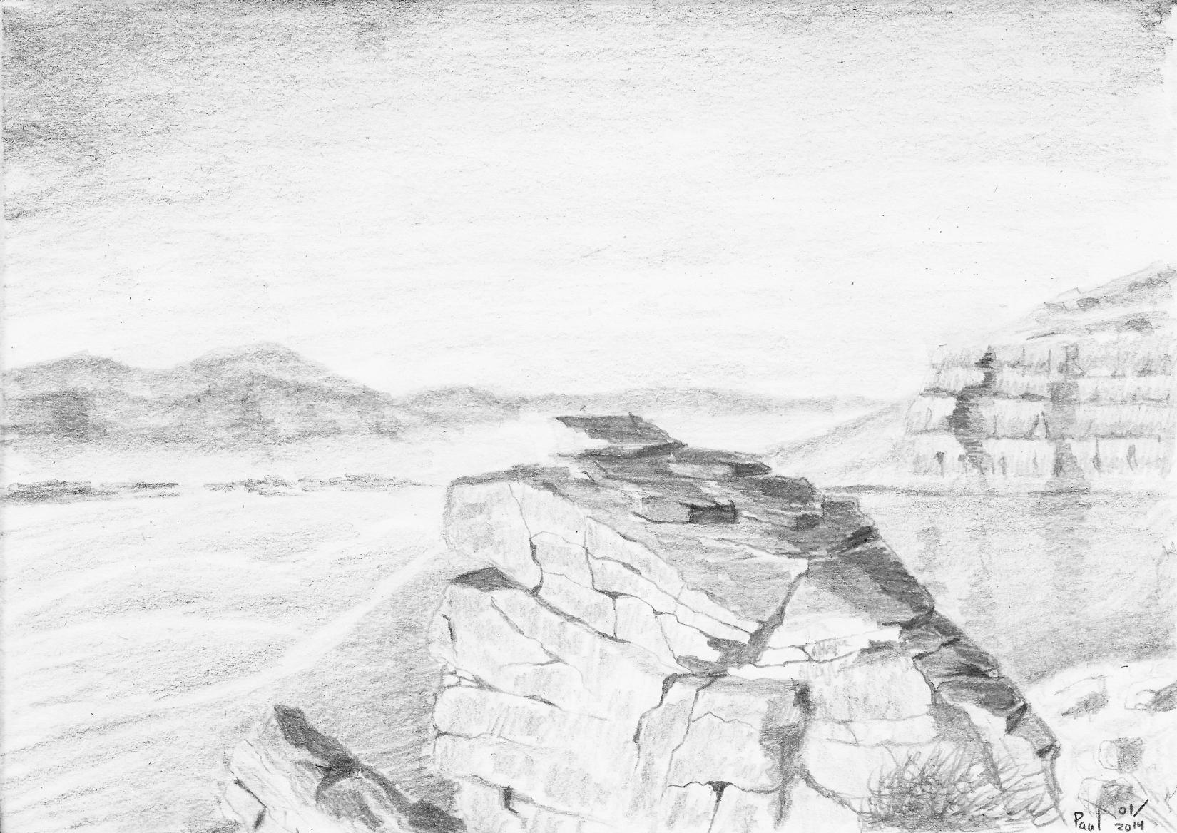 Drawn rock rocky landscape Hupie Overview Overview DeviantArt Rocky