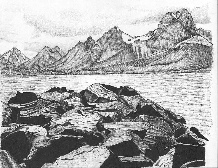 Drawn rock rocky landscape 23 about Landscape Pinterest images