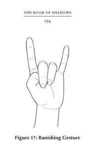 Drawn rock sign Hand Illuminati  the devil