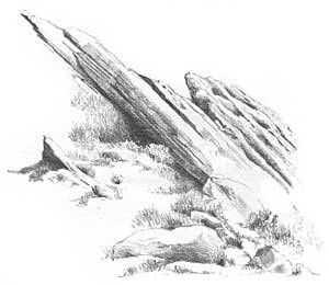 Drawn rock simple Cliffs How draw how on