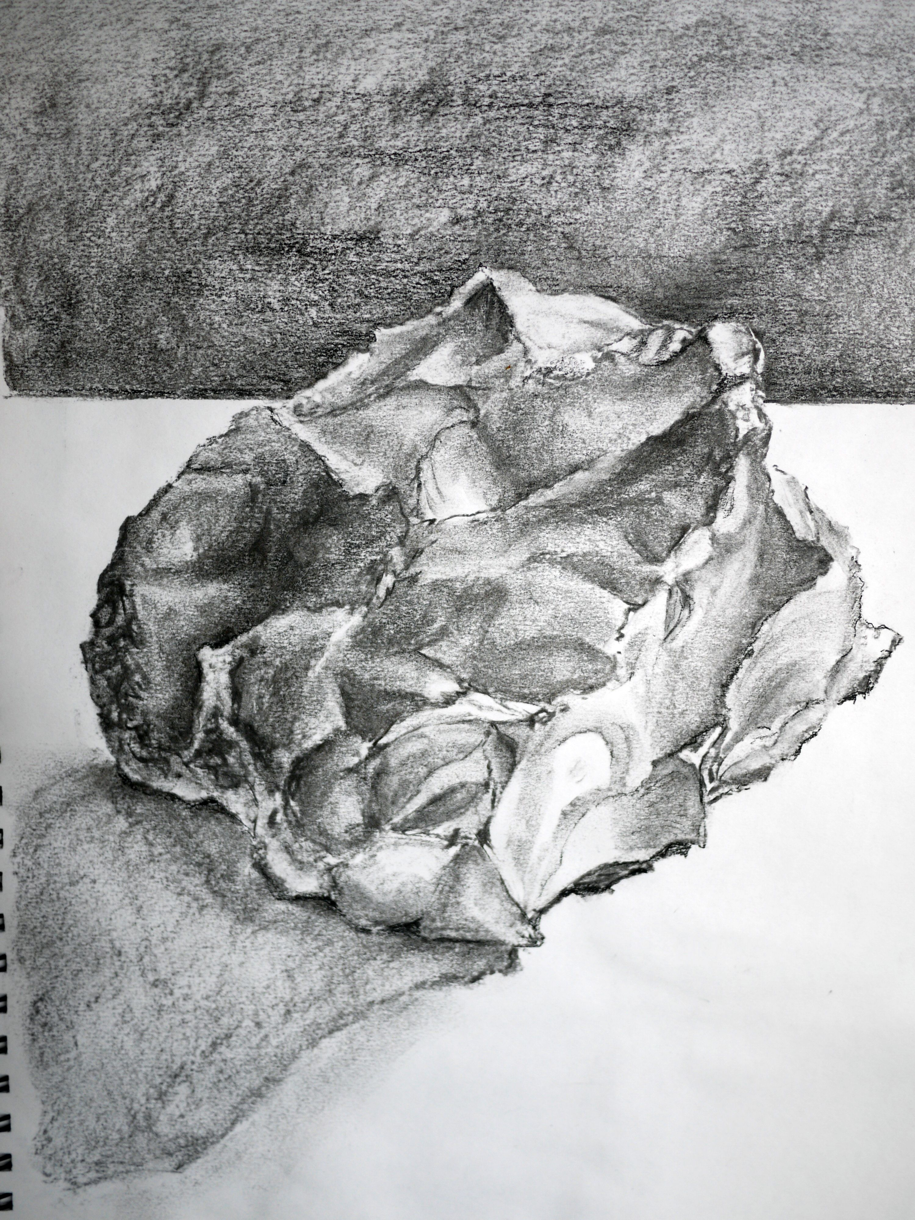 Drawn rock torn paper Paper Paper Drawing with of