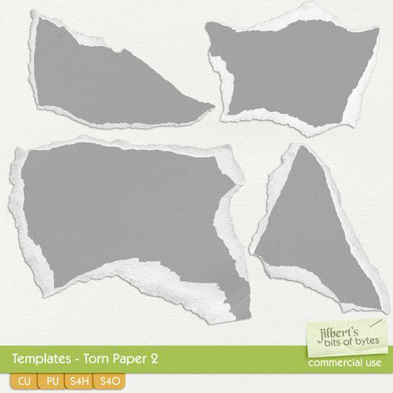 Drawn rock torn paper CU/Commercial Torn #digital CU/Commercial Paper