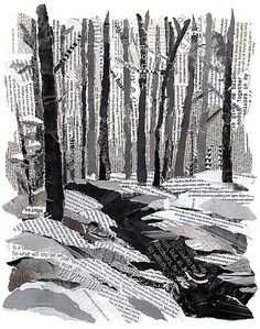 Drawn rock torn paper To road Landscapes less This