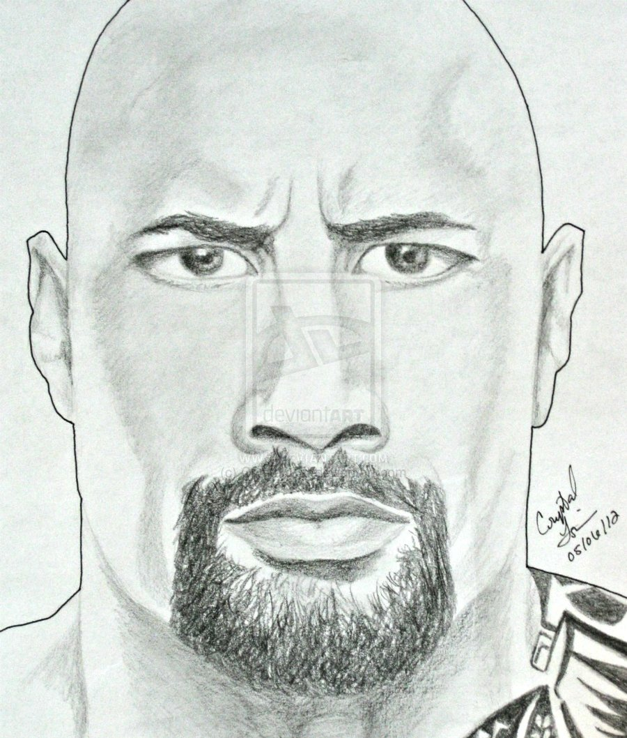 Drawn rock wwe the rock Tutorials Wwe Drawing Step By