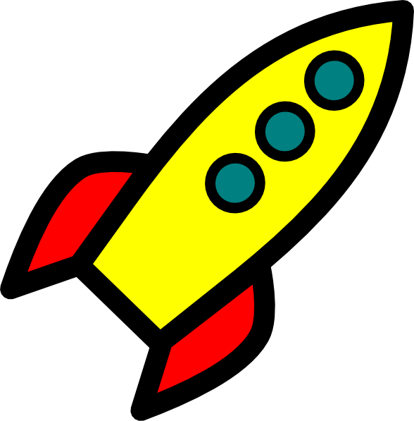 Drawn rocket Space 3) Cartoon about Drawing