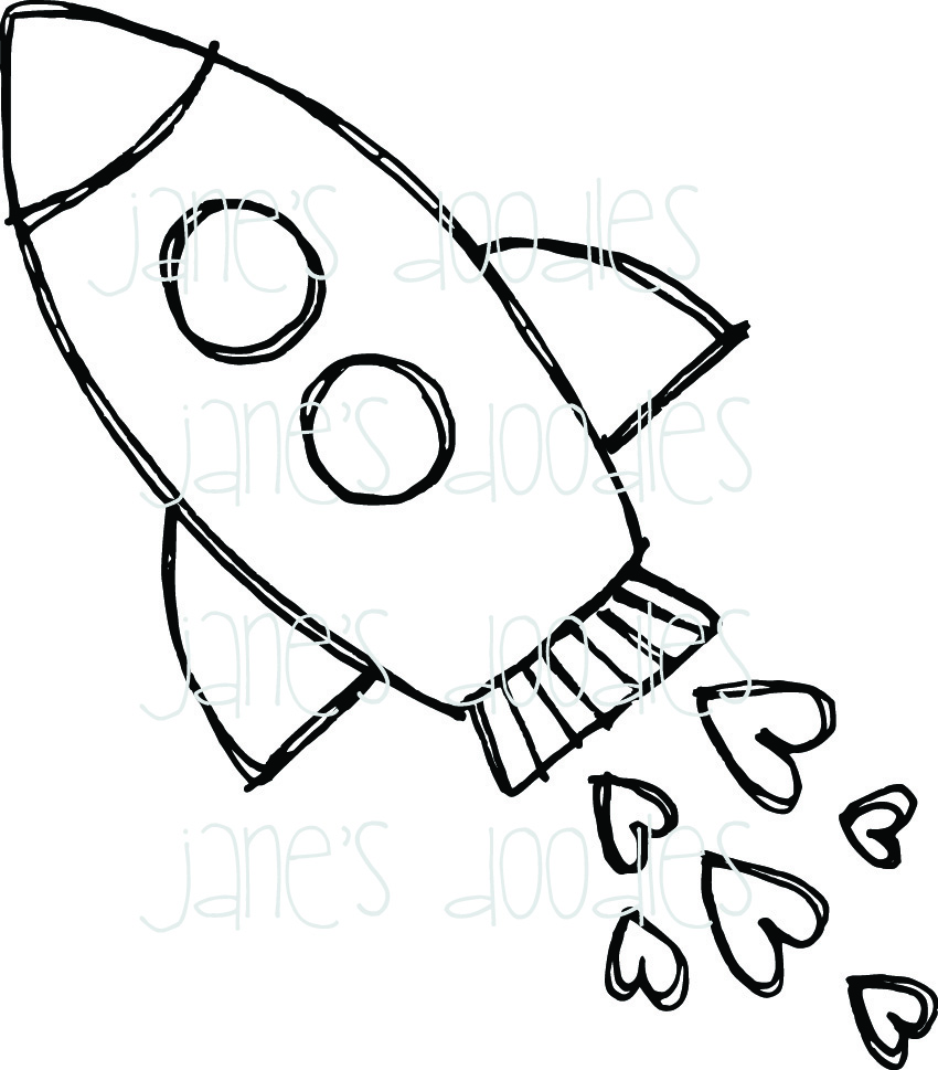 Drawn rocket Search ship coloring Not Search