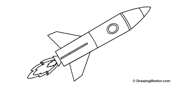Drawn rocket Coloring To Drawingmentor Rocket lightofunity