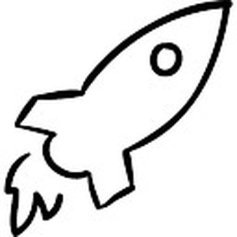 Drawn rocket Outline PSD Rocket Free Photos