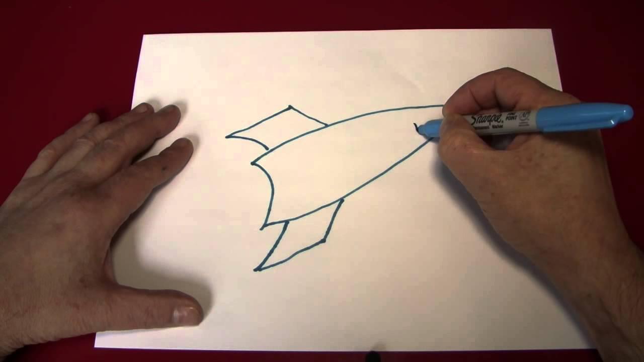 Drawn ship paper A Rocket YouTube Ship)