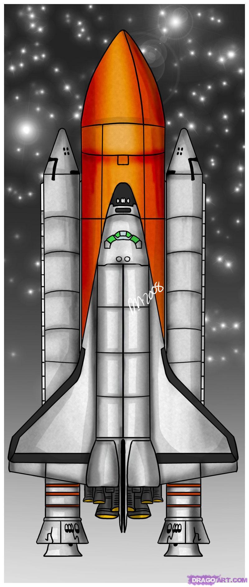 Drawn spaceship nasa Nasa Step  by Space