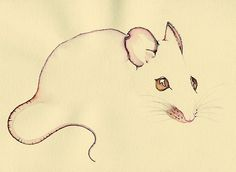 Drawn rodent artwork Illustration drawing nature eyes mouse