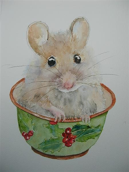 Drawn rodent christmas Mouse images Rodent on Flavor