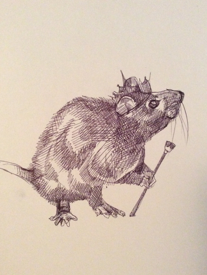 Drawn rodent christmas The minutes and drawing with