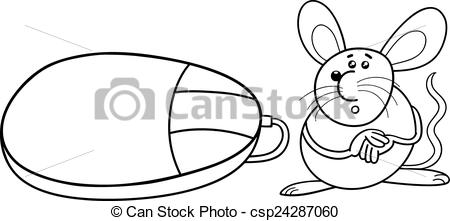 Drawn rodent comp Computer page coloring computer Art