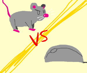Drawn rodent computer mouse Fighting Weaboo666) fighting a mouse