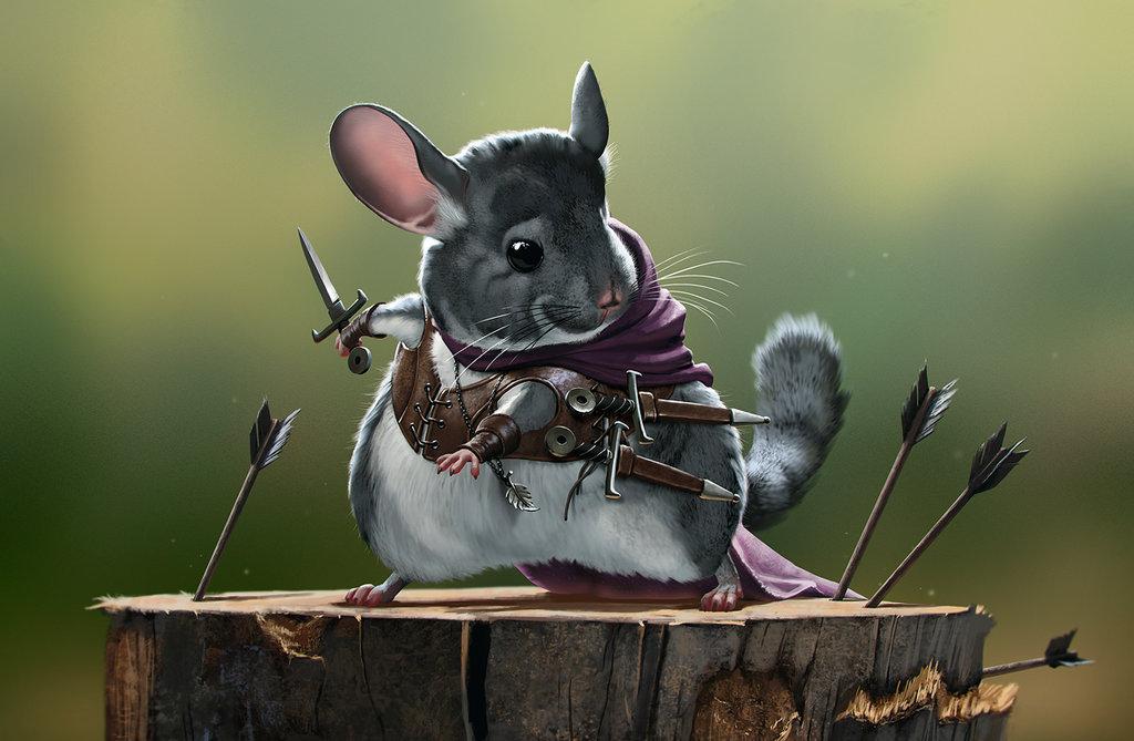 Drawn rodent deviantart DeviantArt Assassin by Chinchilla priapos78