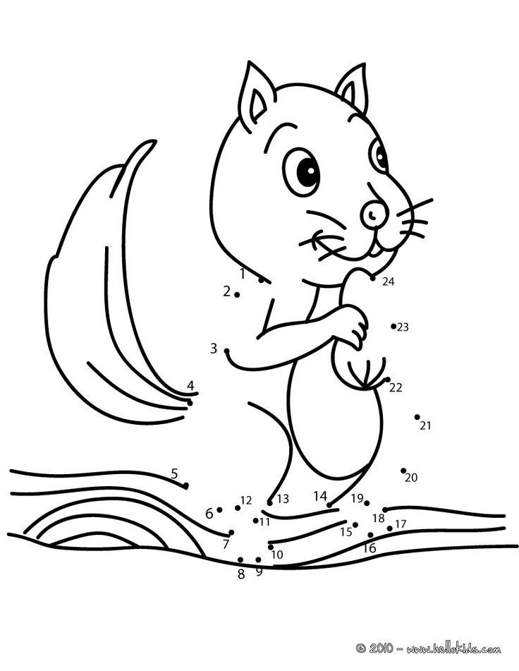 Drawn rodent kindergarten Game best dot to game
