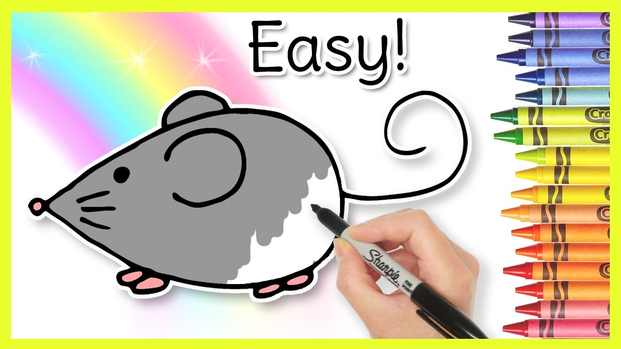 Drawn rodent kindergarten MOUSE! Easy Learning Kindergarten Toddlers