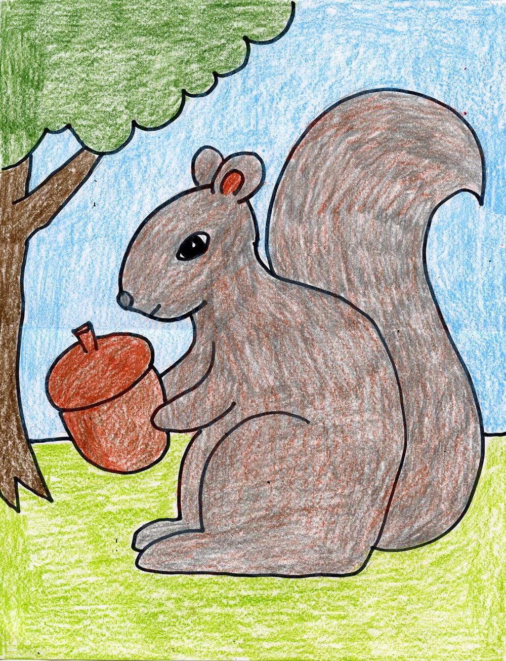 Drawn rodent kindergarten A either too Draw found