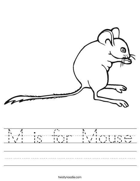 Drawn rodent kindergarten Mouse  M for Pinterest