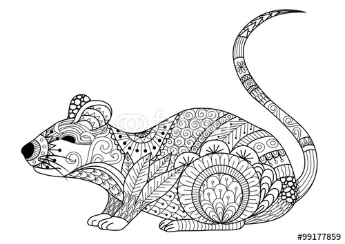Drawn rodent love Adult for Coloring coloring and