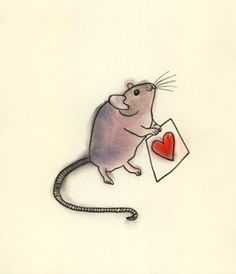 Drawn rodent love Love (Book 8 4 11