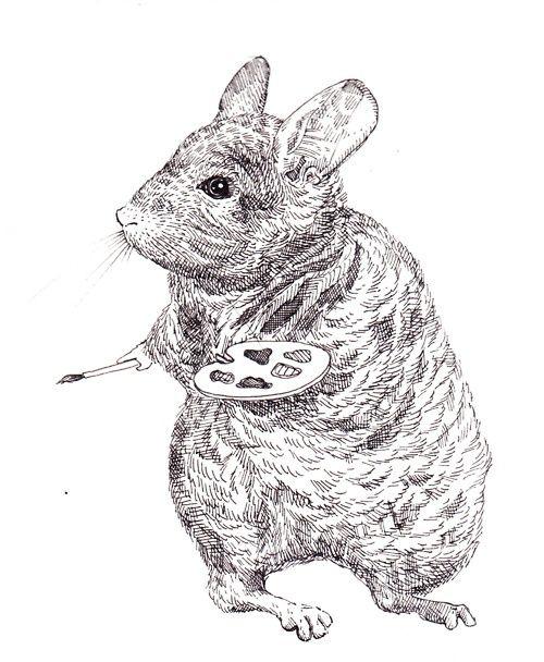 Drawn rodent love Adrienne Lobl drawing Chinchilla by