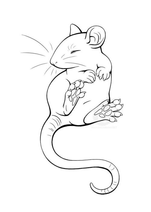 Drawn rodent love Ratty Find more  jpg