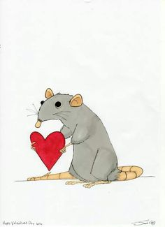Drawn rodent love Rats and Rats Pinterest cute