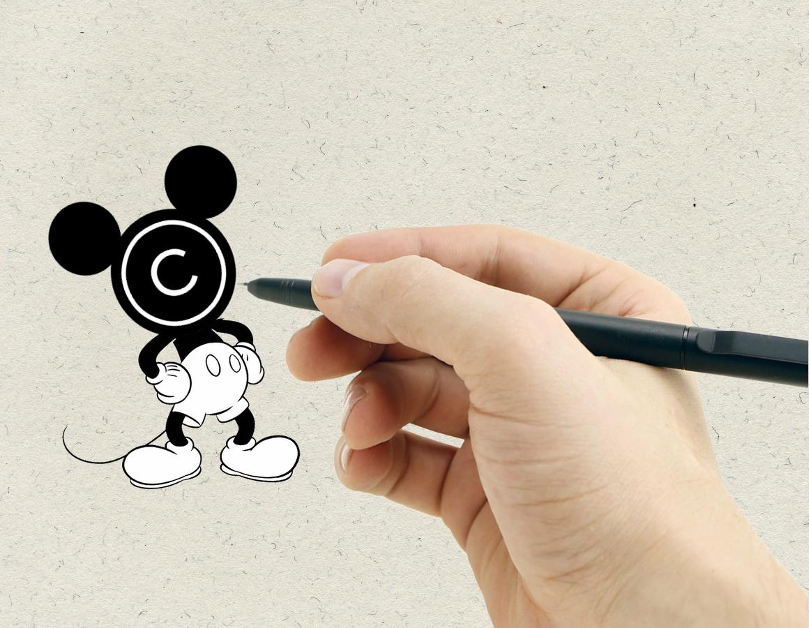 Drawn rodent mickey hands  Mouse the Public Evades
