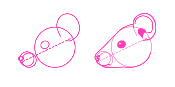 Drawn rodent mouse head How head to draw Animals: