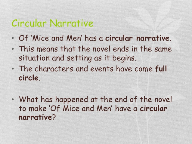 Drawn rodent of mice and man Circular men revision mice Narrative