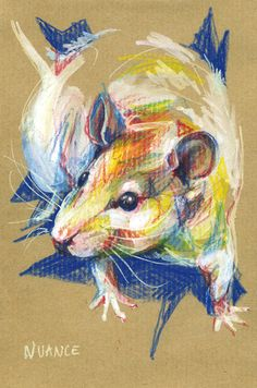 Drawn rodent paper Paint nuances Praline (