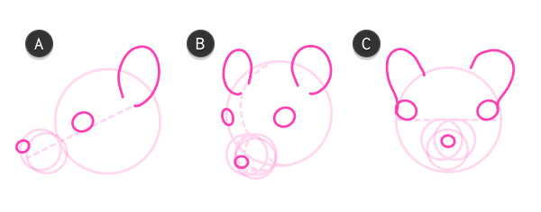 Drawn rodent white background Draw how Small How mouse