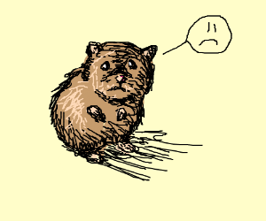Drawn rodent sad Hamster Yung Starch) Hamster by