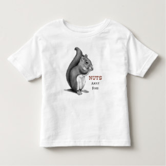 Drawn rodent toddler Toddler Zazzle Food: Squirrel shirt
