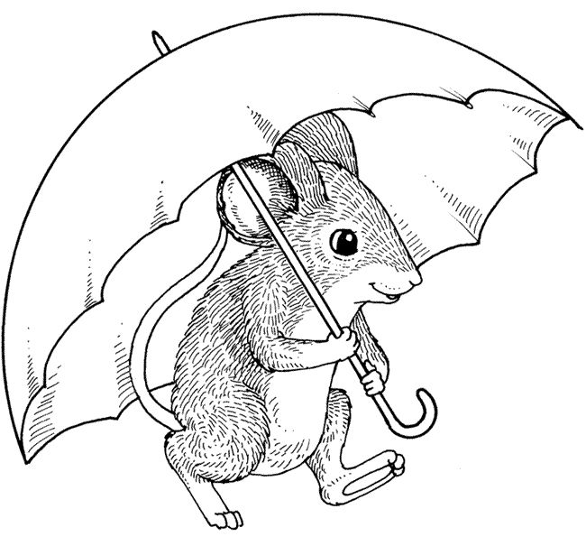 Drawn rodent umbrellas Patterns Bugs rodent Bugs rodents