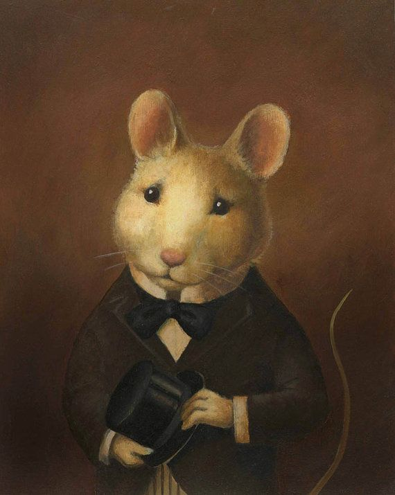 Drawn rodent vintage cat Portrait Animal Pinterest Portrait Mouse