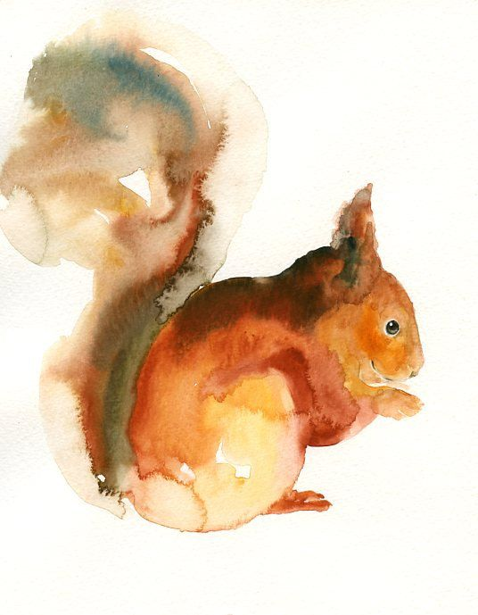 Drawn rodent watercolour Watercolour Original painting watercolor 8X10inch(Vertical