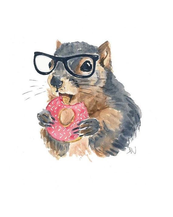 Drawn rodent watercolour 25+ Painting by Pinterest Nerd