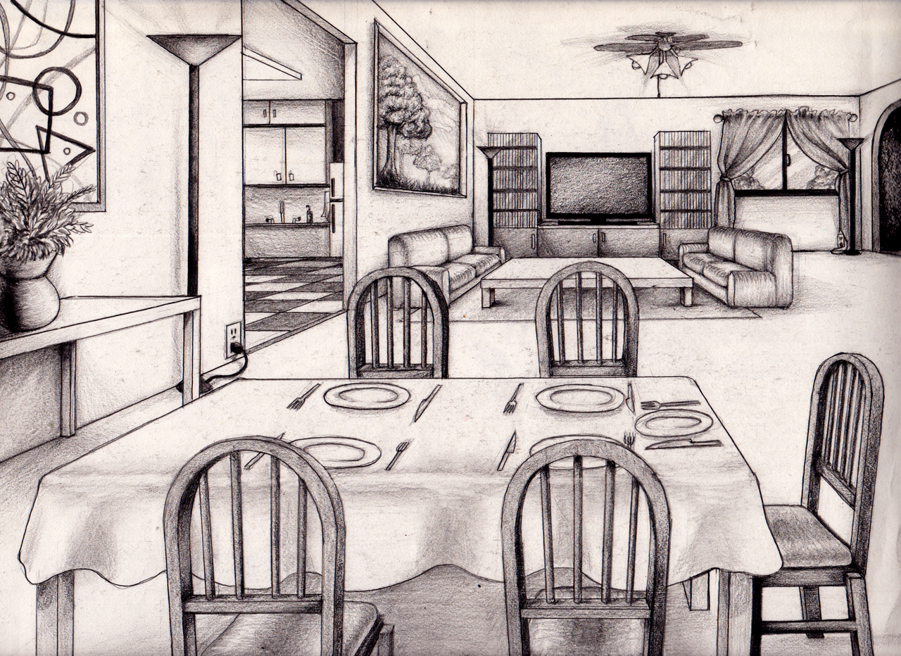 Drawn room 1 pt Full Beautiful png Version Blue