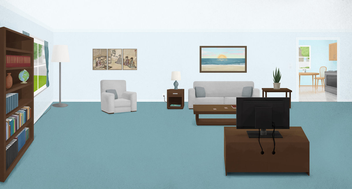 Drawn room animated Nickagneta DeviantArt Room Backgound by